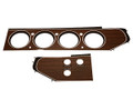 Dash Bezel Rallye Gauge Woodgrain 70-71 E Body Convertible w/4 Switches