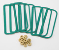 71 Cuda Fender Gills Gaskets (Set of 8)