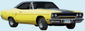 1970 Road Runner Decal & Dust Trail Side & Deck Lid Stripe Kit Gloss Black