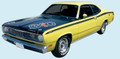 1971-72 Duster Sides, Tail Panel & 3 Names Decal & Stripe Kit (340's Included)