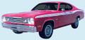 1973-74 Duster/Twister Sides, Tail Panel & Name Decal & Stripe Kit (340's Included)