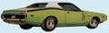1971 Charger R/T Decal & Stripe Kit Matte Black