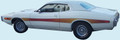 1973-74 Charger Rallye REFLECTIVE Mid Body Side Stripe Kit