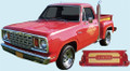 1978-79 Li'l Red Express Truck Decal & Stripe Kit Gold