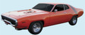 1972 Road Runner Decal & Roof Strobe Stripe Kit