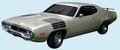 1972 Road Runner Decal & Hood-to-Fender Tank Tracks Stripe Kit