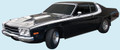 1973 Road Runner Decal, Sides & Roof Strobe Stripe Kit