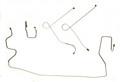 Front Brake Line Kit 68-72 W/Power Brakes 4pc Original Material