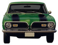 1969 Barracuda Hood and Header Stripe Kit (Matte Black Only)