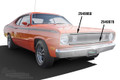 Molding Upper Grille 71-72 Duster
