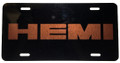 License Plate Gloss Black w/Hemi Mango Orange