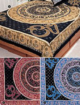 King-size OM Mandala India Bedspread