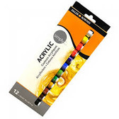 Daler Rowney Simply Acrylics 12ml Pack of 12 - CLEARANCE SALE!!!  While Stocks Last