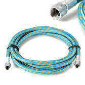 Braided Blue & Gold Airbrush Hose