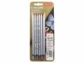 Derwent Metallic Pencils - 6 Original - CLEARANCE SALE!!! While stocks last