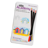 Derwent Academy Pencils Colouring - Tin 12 - CLEARANCE SALE!! While stocks last
