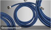 Harder & Steenbeck  - Braided hose complete, 2 m quick coupling nd 2.7, connection í«_' for Airbrush