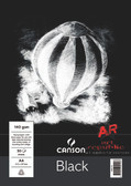 Canson Black Paper Pad A4 140gsm - 30 sheets