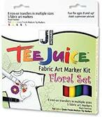 Tee Juice Fabric Art Marker Kit - Floral   SALE!!!!!