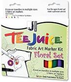Tee Juice Fabric Art Marker Kit - Floral   SALE!!!!!
