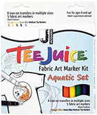 Tee Juice Fabric Art Marker Kit - Aquatic   SALE!!!!!