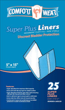"COMFORT WEAR Liners Super Plus 5"" x 15"""