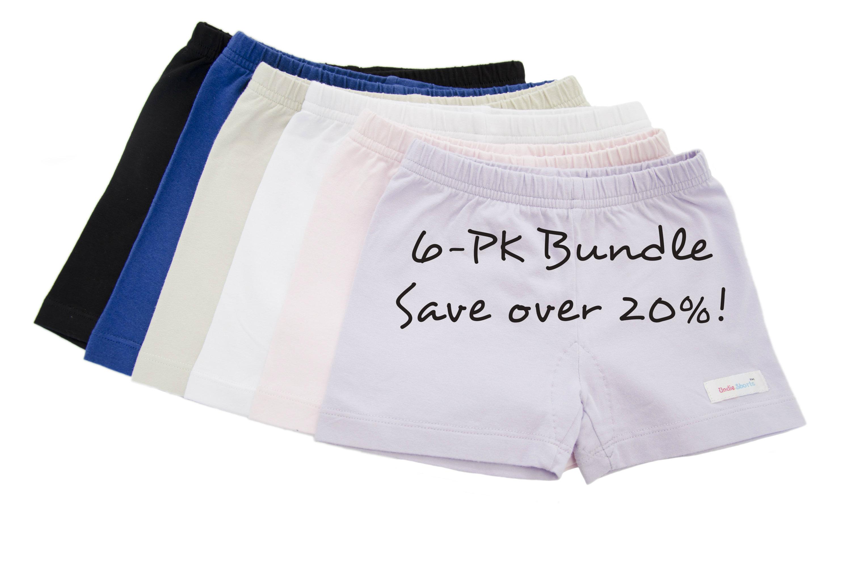 girls cotton knit shorts 6-Pack bundle sale