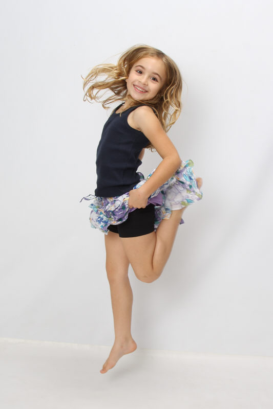 girls active dance wear under shorts in black