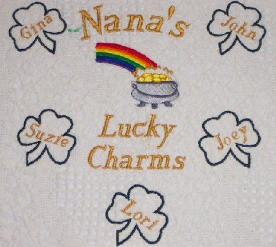 Grandma Woven Blanket - Lucky Charms - Pot of Gold Design