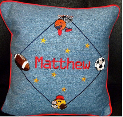 Baby/Child Pillow - Sports Balls Design