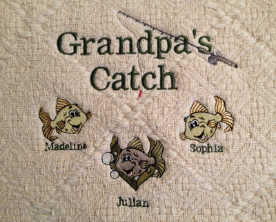 Grandpa Sweatshirt - Grandpa's Catch Design