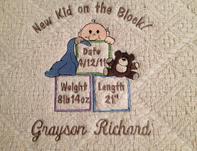 Baby Blanket - New Kid on the Block Design Sample