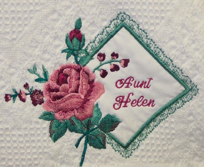 Grandma Woven Blanket - Rose Kerchief Design