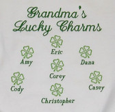 Grandma Sweatshirt - Lucky Charms - Shamrocks Design