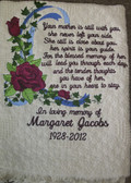 Memorial Blanket - In Loving Memory with Roses Design