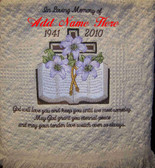 Memorial Blanket - In Loving Memory with Bible Design