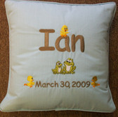 Baby/Child Pillow - Frogs & Ducks Design
