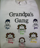 Grandpa Sweatshirt - Grandpa's Gang Design