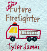 Baby Blanket - Future Firefighter Design Sample
