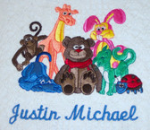 Baby Blanket - Stuffed Animals Design Sample
