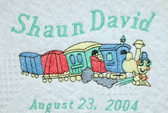 Baby Blanket - Train Design Sample