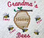 Grandma Woven Blanket - Honey Bees Design