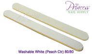 Princess Nail Files, 50 per pack - Washable White/Peach, Grit: 80/80