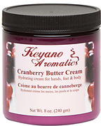 Keyano Manicure & Pedicure, Cranberry Butter Cream 8 oz.