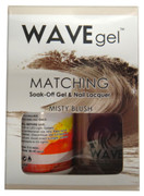 WaveGel Matching S/O Gel & Nail Lacquer - MISTY BLUSH  .5 oz  W158