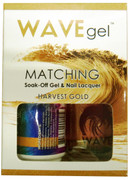 WaveGel Matching S/O Gel & Nail Lacquer - HARVEST GOLD  .5 oz  W162