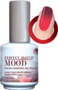 LeChat Mood Color Changing Gel Polish, Dark Rose MPMG34
