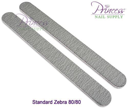 Princess Nail Files, 50 per pack - Zebra