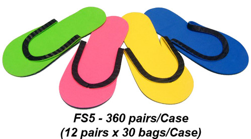 Slip-Resistant Rubber Strip Slipper, case 360 pairs FS5