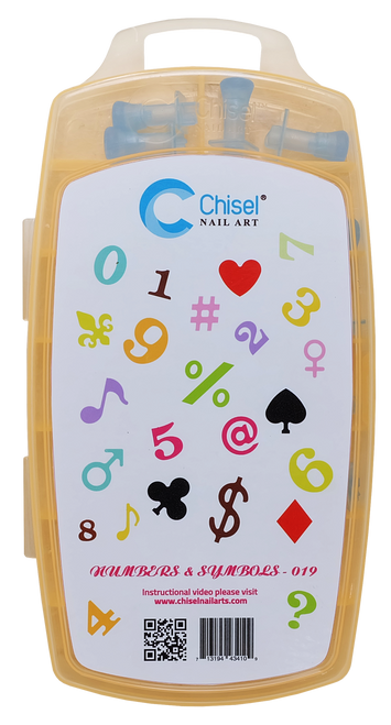 20% off Chisel Nail Art - Number 3D Stamps - Kit19